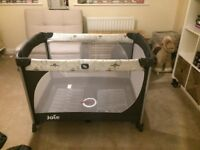 Baby travel cot 'Joie communter' and Mattress To Fit