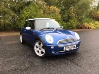2005 MINI COOPER 1.6 BLUE WITH WHITE ROOF GREAT CAR MUST SEE 89,000 MILES PETROL £3495 OLDMELDRUM