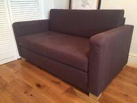 Ikea Two-seat Sofa Bed (Dark Purple)