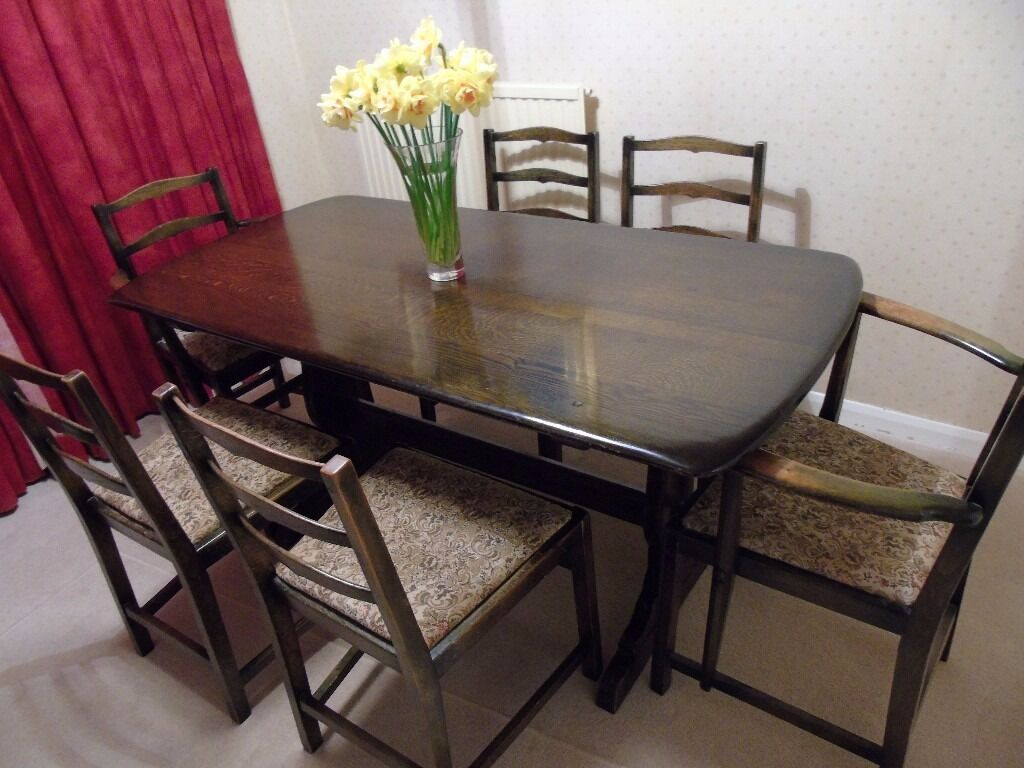 Ercol Dining Table Chairs Dresser 100