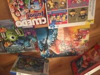 Minions, Wreck it Ralph, Monsters Ink Jigsaw and Cluedo game