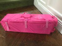 Travel cot 1 black 1 pink £10 each
