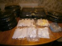 New Party Catering stuff, 12 sandwich boxes, lots of plastic cutlery.