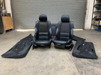 BMW E46 3 series M Sport Coupe 2 door Black Leather Manual Seats and Door Panels Interior Cards
