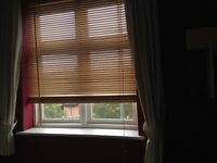 Wooden venetian blinds (different sizes - 3 for bay window + 1 for normal bedroom window)