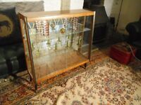 Vintage Glass Display Cabinet - Retro Display Shelves. *Shabby Chic/Art Deco Furniture*.