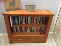 Solid oak book shelf excellent condition