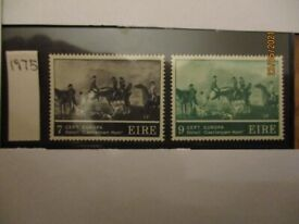 10 complete sets 1975 Ireland Europa SG 371 372 - mint, never hinged, immaculate