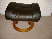 Ekornes Stressless Leather Footstool NEW