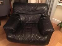 Black single armchair