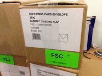 7 boxes of Greetings Card envelopes 155x 155 White