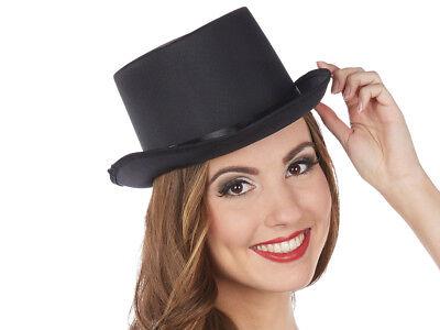 Zylinder elegant Hat Rubie's Top Hat 12cm hoch schwarz klein bis groß 164033 ()