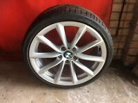 "BMW 19"" alloys and Bridgestone tyres"