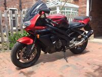 Aprilia SL1000 Falco. Very low documented mileage of 9900. Red and black. Comprehensive history