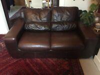 Italian leather 2-seater sofa by Violina