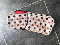 Fold up mini changing bag and mat, as new, smoke and pet free house