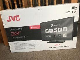 "32"" LED SMART HD TV + Wall bracket for Sale"