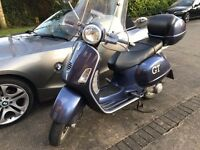 Vespa GT Navy Blue, Sweet Runner, LONG MOT, Full Service History, Helmet INCL.