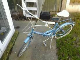 Vintage folding ladies shopping bike garage find
