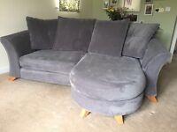 Charcoal Grey 3 seater pillow back sofa