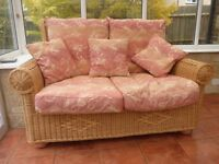 Cane Conservatory Furniture - Sofa and 2 Armchairs - Excellent Condition