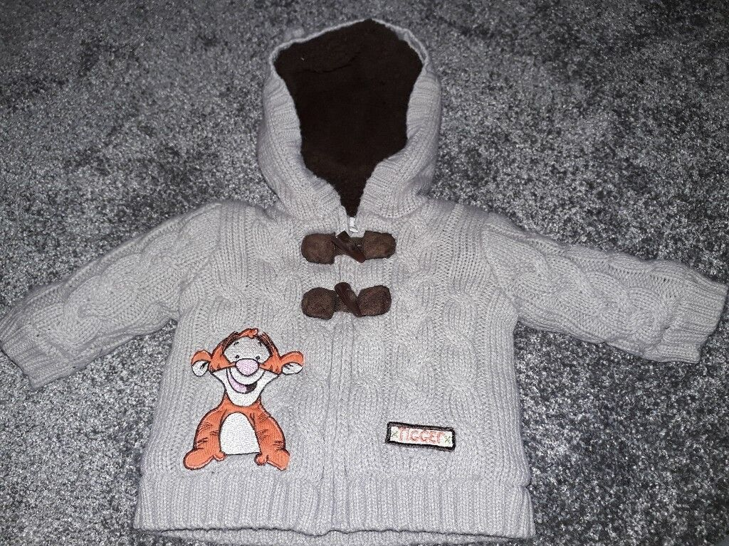 Baby boys jacket. 3-6 months. Excellent condition worn once. Chunky knit and lined.