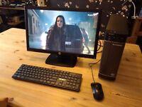 Lenovo H520s i3 1tb hd 8 gb ram slimline desktop pc + 22 inch monitor keyboard, mouse speakers