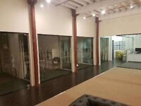 USED GLASS OFFICE PARTITIONS INC DOORS AND HARDWARE