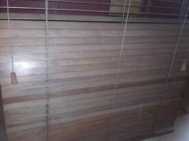 2x wooden blinds. W79cm drop 114cm