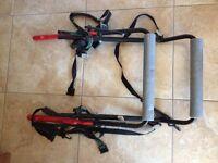 Paddy Hopkirk Bike Rack. For back of car. Holds 2 bikes. Folds flat for storage