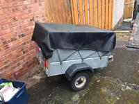 Trailer Caddy 4' x 3' with added high sides - galvanized steel with spare wheel