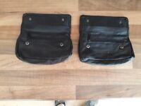Black Leather Tobacco Pouches
