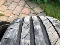 Continental contisportcontact 5 tyres for sale (x2) Part worns