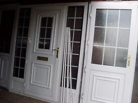 2 upvc porch doors matching georgen bar front and back