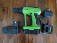 Tooltec 24v drill with charger and 2 batteries - used