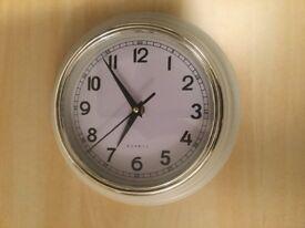 White Round wall clock