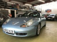 PORSCHE BOXSTER 3.2 986 S 2 DR BLUE 148,000 MILES, F.D.S.H WITH 20K OF RECEIPTS, 2 OWNER, 2 KEYS