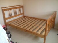 "Double Bed 4'6"" (Antique Pine)"