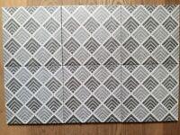 6 Art Deco-style geometric tiles