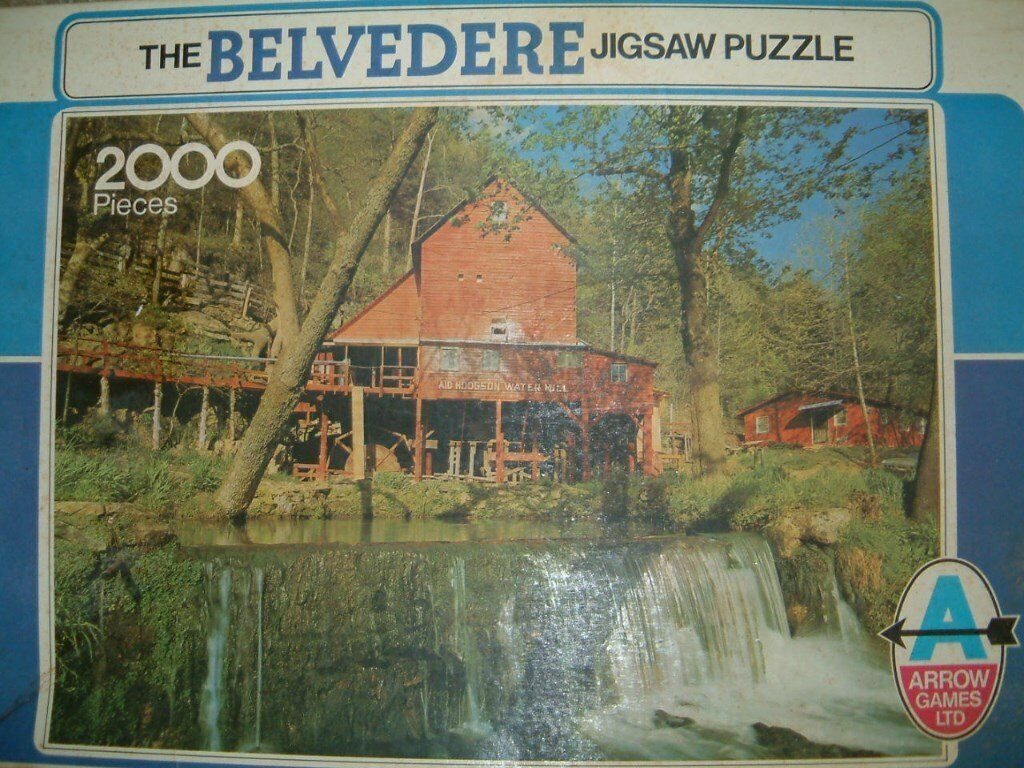 For Sale 2000 piece Puzzle showing Aid Hodgson Water Mill and Water Fall