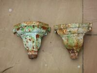 Victorian cast iron drain pipe hoppers