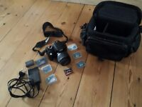 Canon EOS 350D good condition, 4*8GB Compact Flash cards, 18-55mm lens