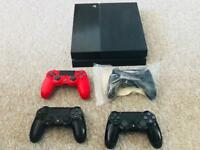 PlayStation 4 1Tb with 6 new games and 3 controllers