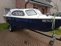 18 foot marina boat with 25hp outboard