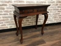 Console Side Table finished in Rosewood