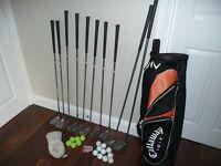 Golf Set - Callaway Bag, Callaway Big Bertha War Bird 10 and 5 plus 8 Ben Sayers Clubs youth/ ladies