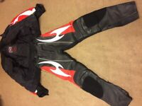 Hein Gericke pro sports motorcycle jacket and trousers XS