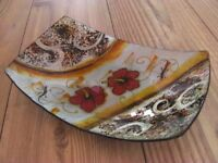 Hand Painted and Glazed Dish