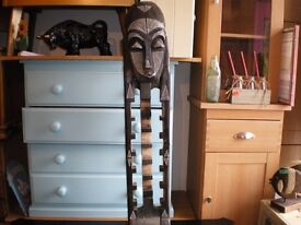 HUGE SOLID WOOD AFRICAN MAN FOR DVD'S ETC