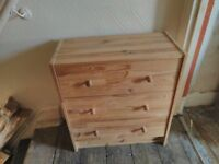 Small pine IKEA chest of drawers